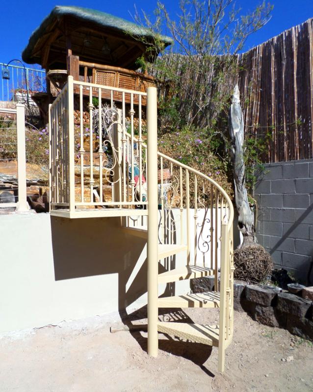 Spiral Stairs - Item SS0039 Wrought Iron Design In Las Vegas