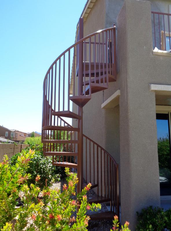 Spiral Stairs - Item SS0043 Wrought Iron Design In Las Vegas