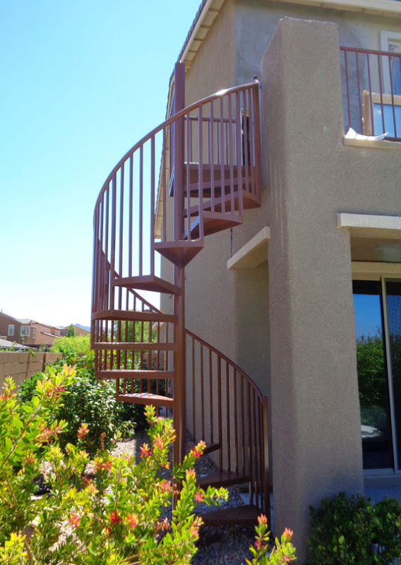 Spiral Stairs - Item SS0046 A Wrought Iron Design In Las Vegas