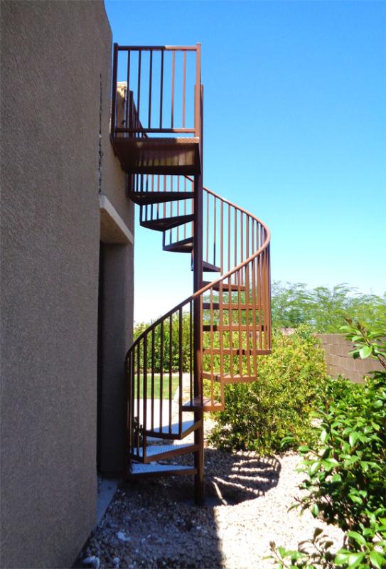Spiral Stairs - Item SS0046 B Wrought Iron Design In Las Vegas