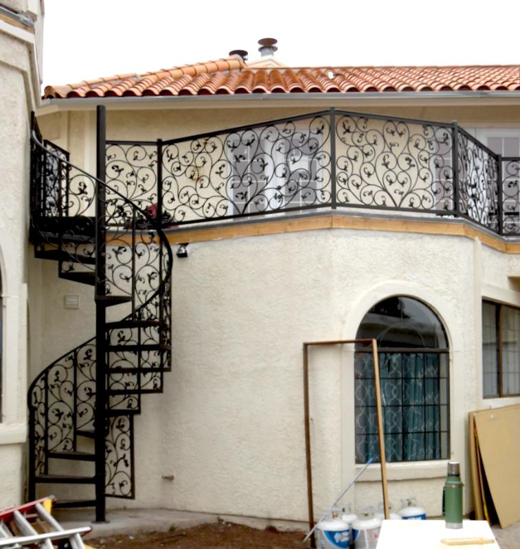 Spiral Stairs - Item SS0048 Wrought Iron Design In Las Vegas