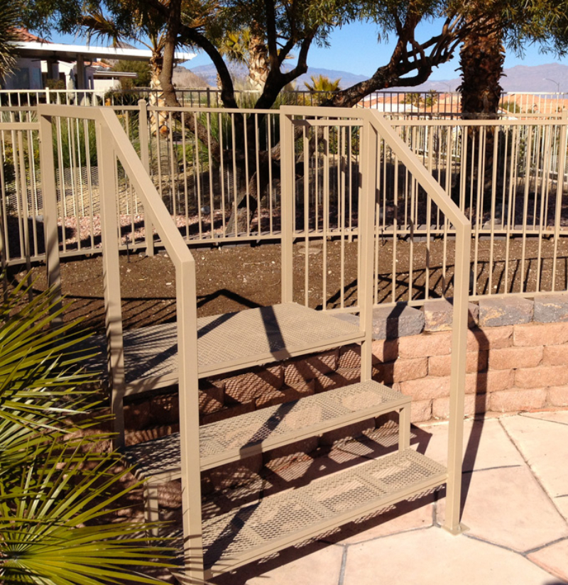 Standard Stairs Esme - Item SS0006 Wrought Iron Design In Las Vegas
