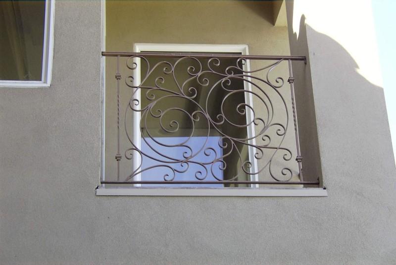 Traditional Balcony Railing - Item BR0007 Wrought Iron Design In Las Vegas