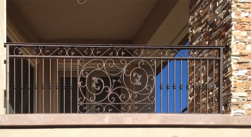 Traditional Balcony Railing - Item BR0070 Wrought Iron Design In Las Vegas
