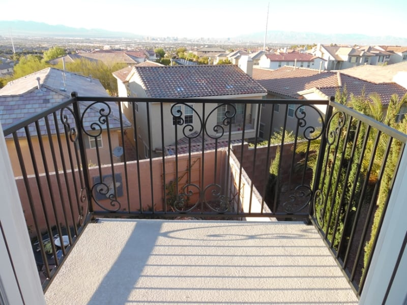 Traditional Balcony Railing - Item BR0113 Wrought Iron Design In Las Vegas