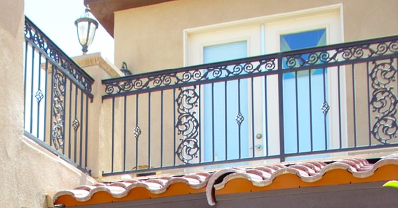 Traditional Balcony Railing - Item BR0067 Wrought Iron Design In Las Vegas