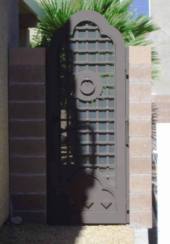 Traditional Single Gate - Item Templar SG0400A Wrought Iron Design In Las Vegas