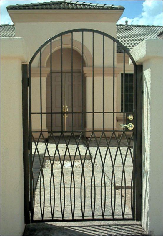 Modern Single Gate - Item TetraSG0022 Wrought Iron Design In Las Vegas