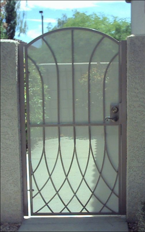 Modern Single Gate - Item Tetra SG0024 Wrought Iron Design In Las Vegas
