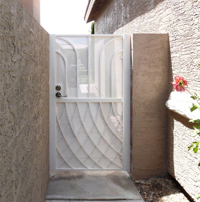 Modern Single Gate - Item TetraSG0024C Wrought Iron Design In Las Vegas
