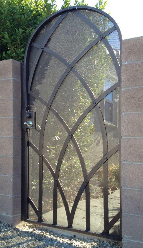 Modern Single Gate - Item TetraSG0303 Wrought Iron Design In Las Vegas