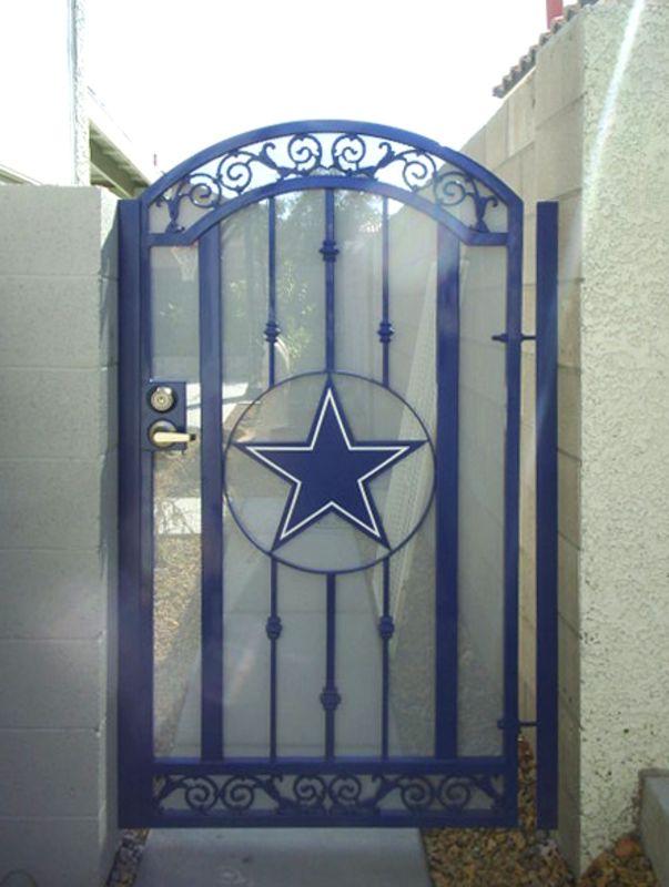 Traditional Single Gate - Item Texas Star SG0002 Wrought Iron Design In Las Vegas
