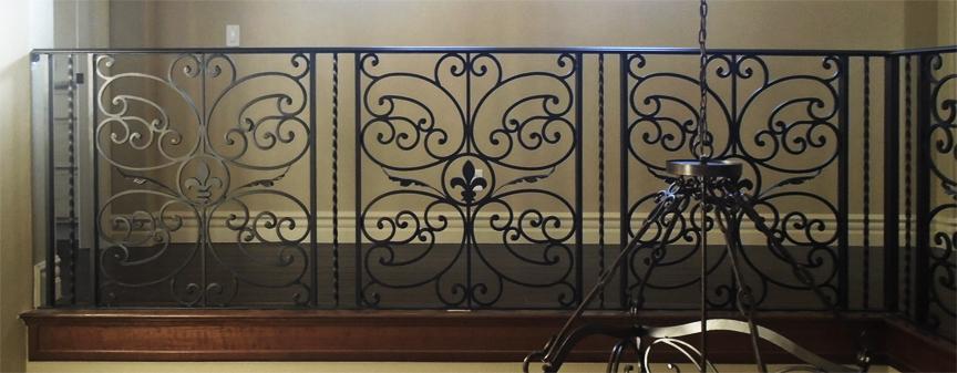 Scrollwork-Interior Railing-Item IR0203B Wrought Iron Design In Las Vegas