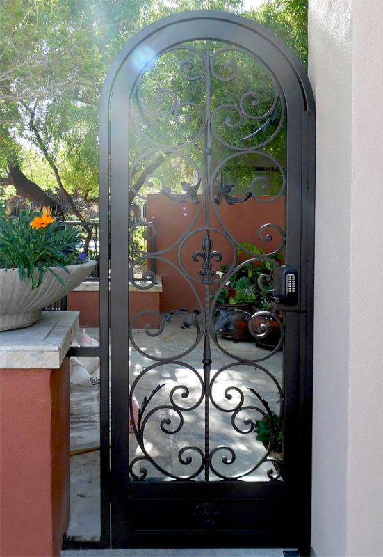 Scrollwork Single Gate - Item Toulouse SG0525 Wrought Iron Design In Las Vegas