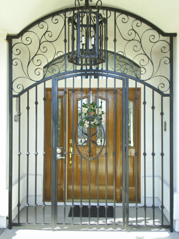Traditional Abbey Entryway Door - Item EW0150 Wrought Iron Design In Las Vegas