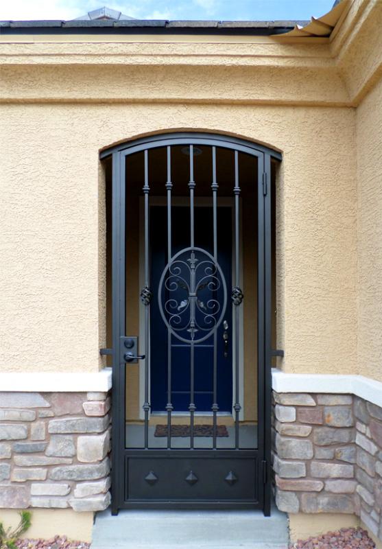 Traditional Abbey Entryway Door - Item EW0249A Wrought Iron Design In Las Vegas