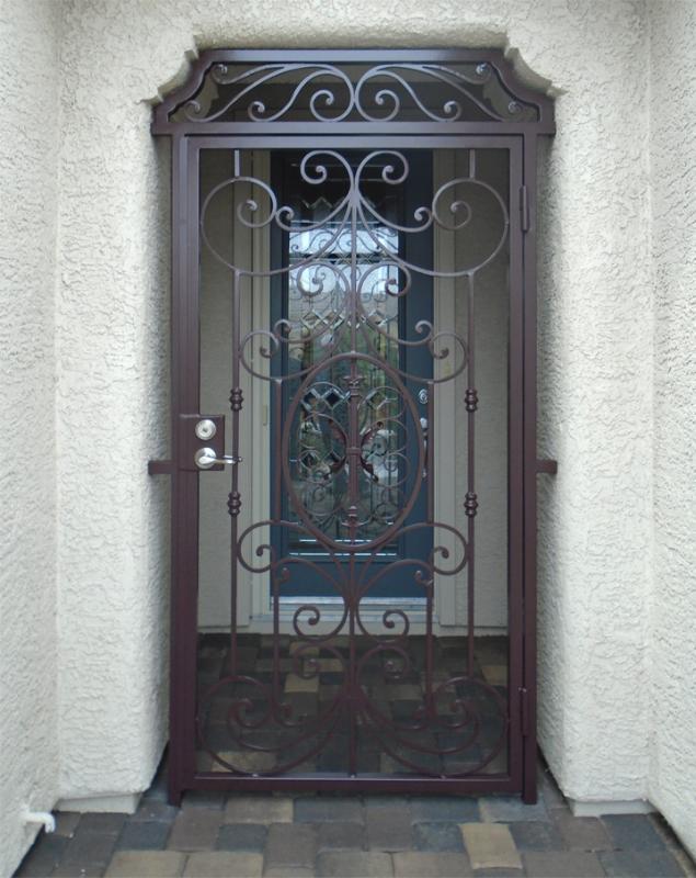 Traditional Abbey Entryway Door - Item EW0485 Wrought Iron Design In Las Vegas