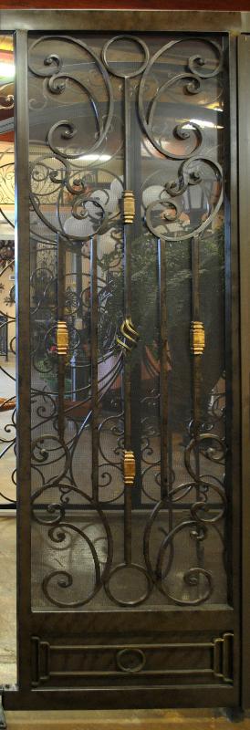 Traditional Athena Entryway Door - Item EW0342 Wrought Iron Design In Las Vegas