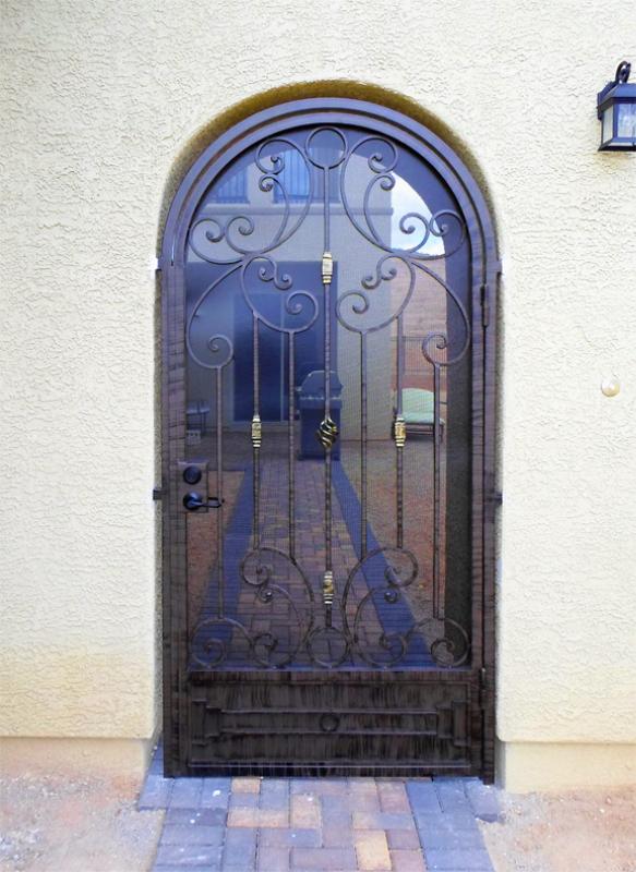 Traditional Athena Entryway Door - Item EW0342A Wrought Iron Design In Las Vegas