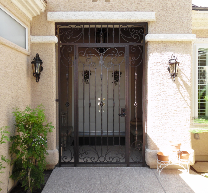 Traditional Athena Entryway Door - Item EW0342E Wrought Iron Design In Las Vegas