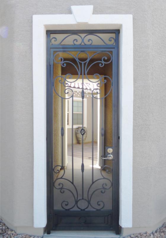 Traditional Athena Entryway Door - Item EW0519 Wrought Iron Design In Las Vegas