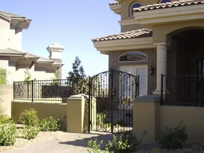 Traditional Block and Iron BI0046 Wrought Iron Design In Las Vegas