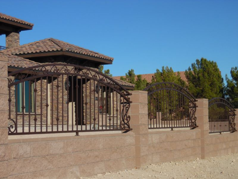 Traditional Block and Iron BI0123 Wrought Iron Design In Las Vegas