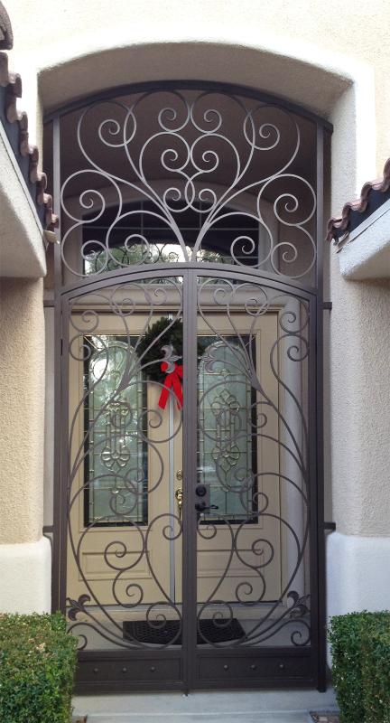 Traditional Bellezza Entryway Door - Item EW0287 Wrought Iron Design In Las Vegas