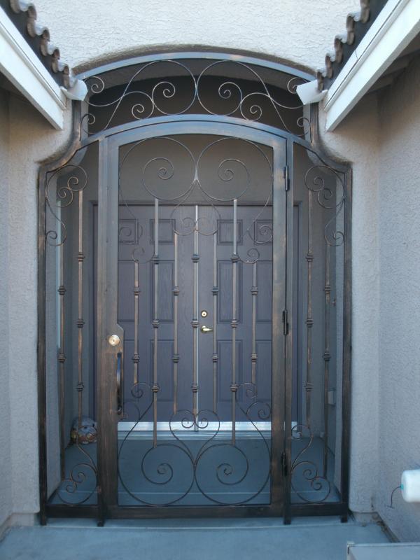 Traditional Biscay Entryway Door - Item EW0033 Wrought Iron Design In Las Vegas