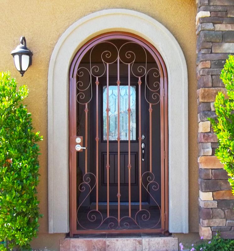 Traditional Biscay Entryway Door - Item EW0200 Wrought Iron Design In Las Vegas