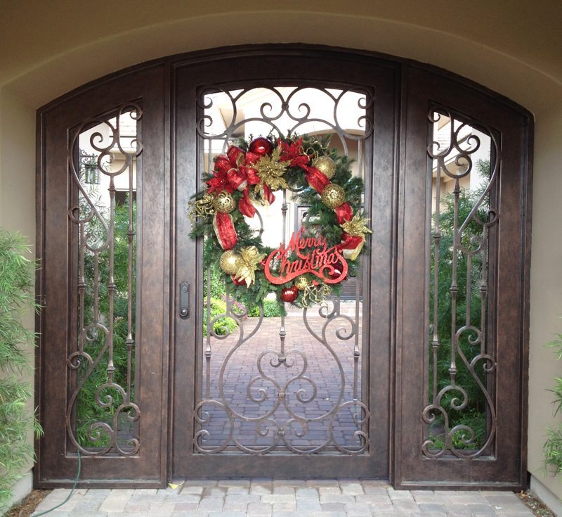 Traditional Biscay Entryway Door - Item EW0286 Wrought Iron Design In Las Vegas