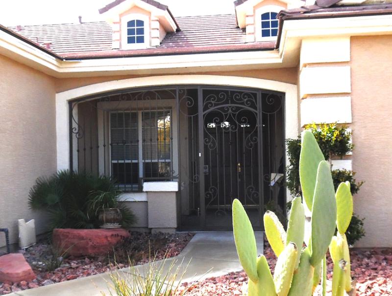 Traditional Biscay Entryway Door - Item EW0466 Wrought Iron Design In Las Vegas
