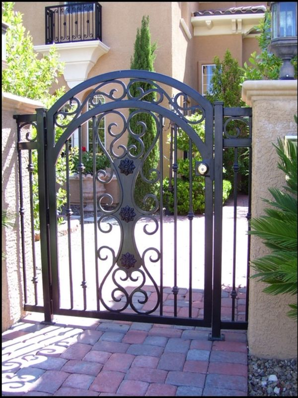 Traditional Courtyard & Entryway Gates CE0006 Wrought Iron Design In Las Vegas