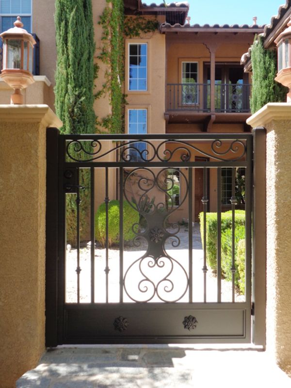 Traditional Courtyard & Entryway Gates CE0006A Wrought Iron Design In Las Vegas