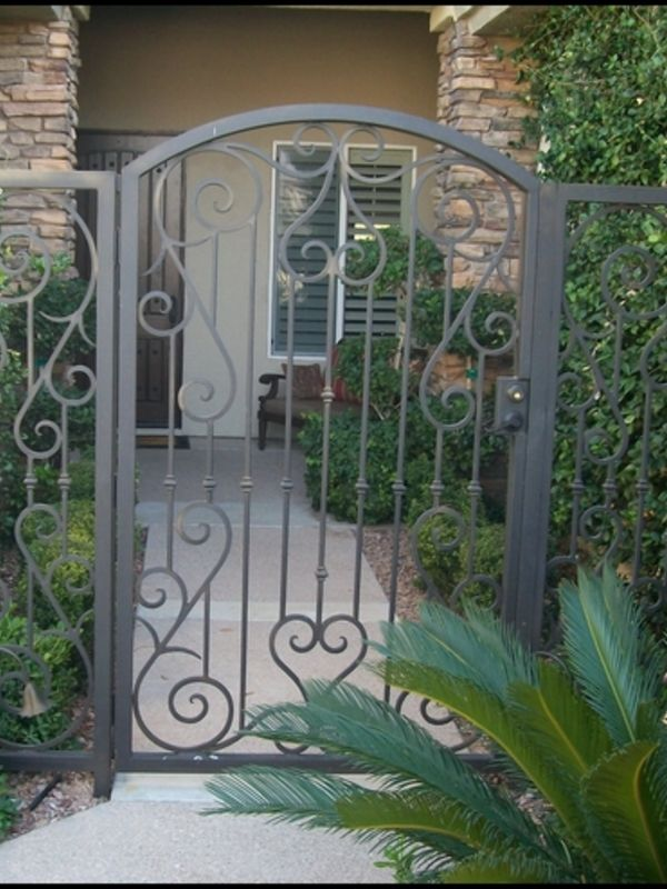 Traditional Courtyard & Entryway Gates CE0014 Wrought Iron Design In Las Vegas