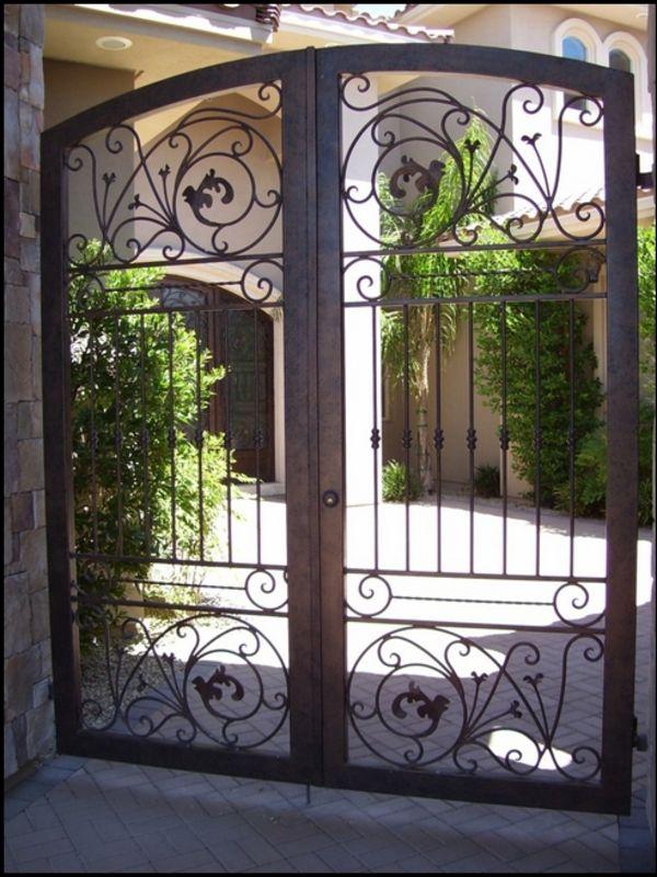 Traditional Courtyard & Entryway Gates CE0022 Wrought Iron Design In Las Vegas