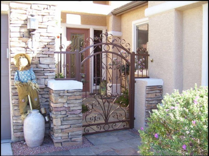Traditional Courtyard & Entryway Gates CE0034 Wrought Iron Design In Las Vegas