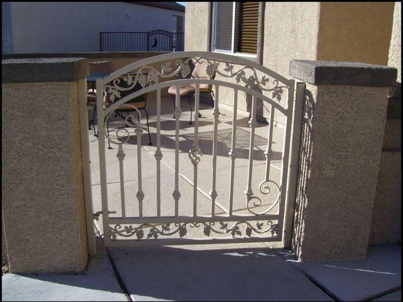 Traditional Courtyard & Entryway Gates CE0044 Wrought Iron Design In Las Vegas