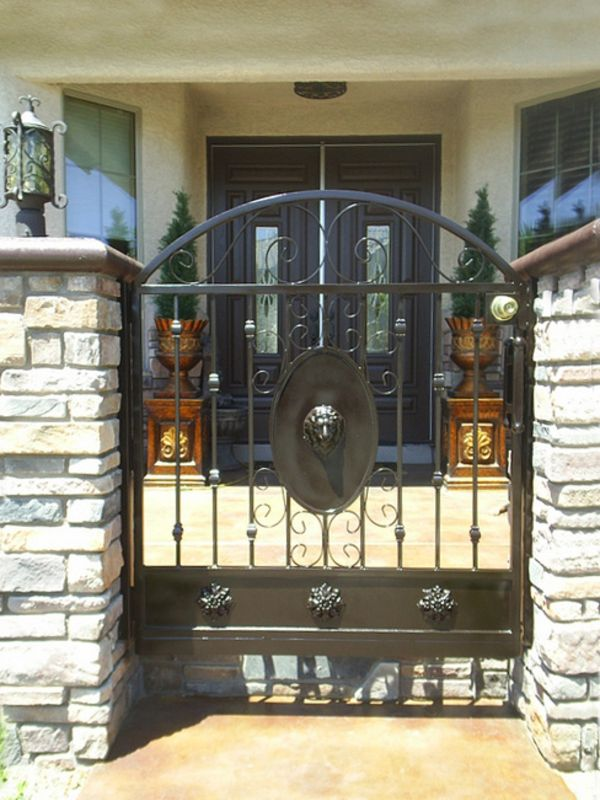 Traditional Courtyard & Entryway Gates CE0050 Wrought Iron Design In Las Vegas