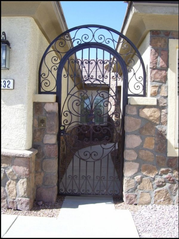 Traditional Courtyard & Entryway Gates CE0066 Wrought Iron Design In Las Vegas