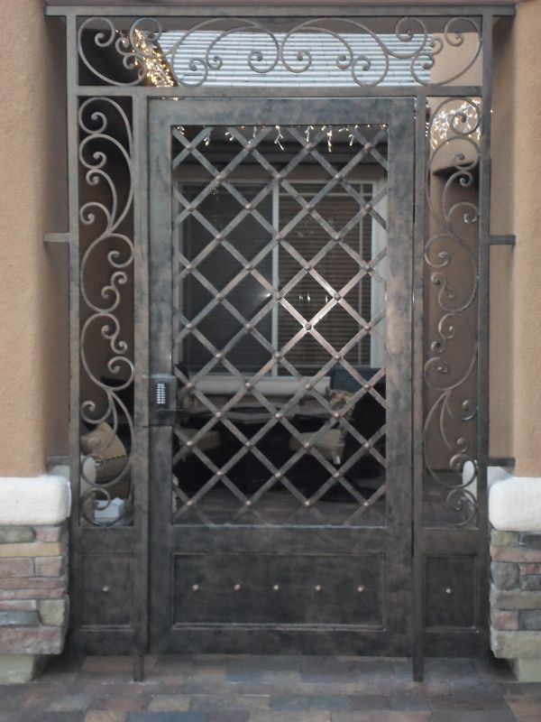 Traditional Courtyard & Entryway Gates CE0096 Wrought Iron Design In Las Vegas