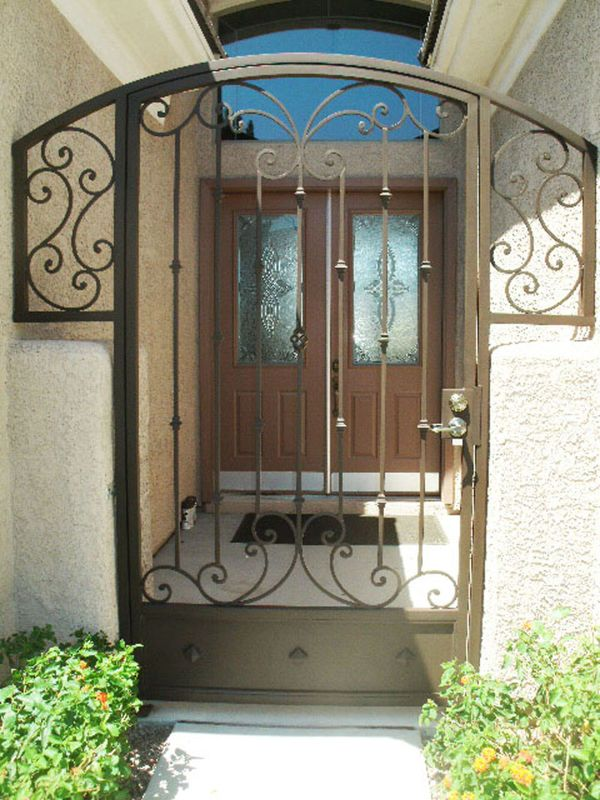 Traditional Courtyard & Entryway Gates CE0106 Wrought Iron Design In Las Vegas