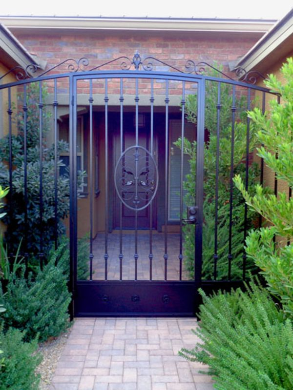 Traditional Courtyard & Entryway Gates CE0108A Wrought Iron Design In Las Vegas