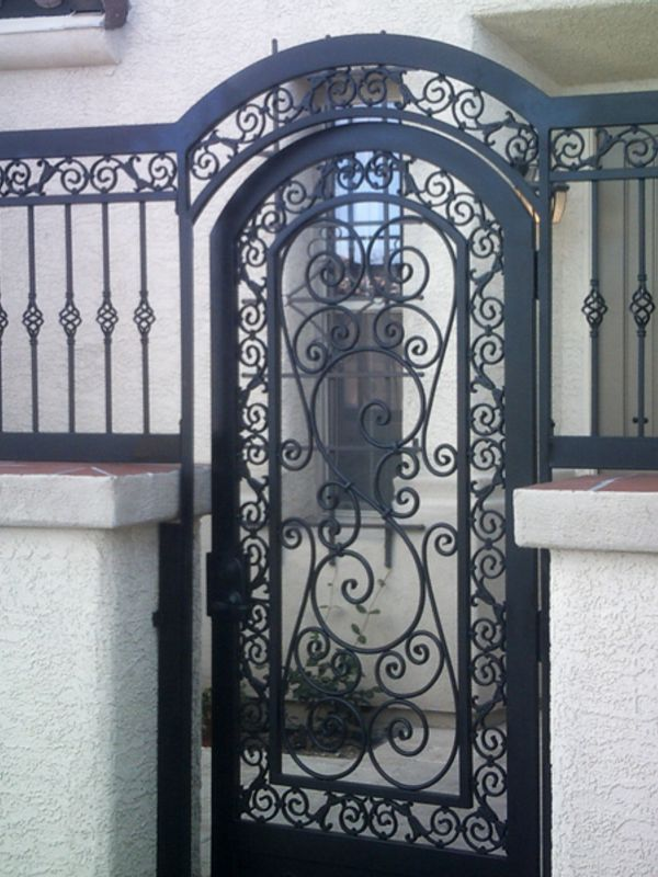 Traditional Courtyard & Entryway Gates CE0183 Wrought Iron Design In Las Vegas