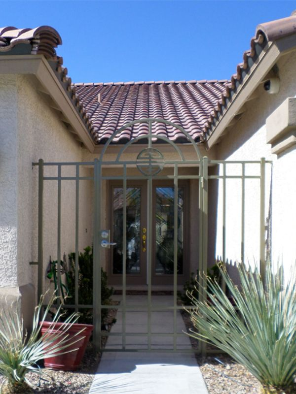 Traditional Courtyard & Entryway Gates CE0187A Wrought Iron Design In Las Vegas