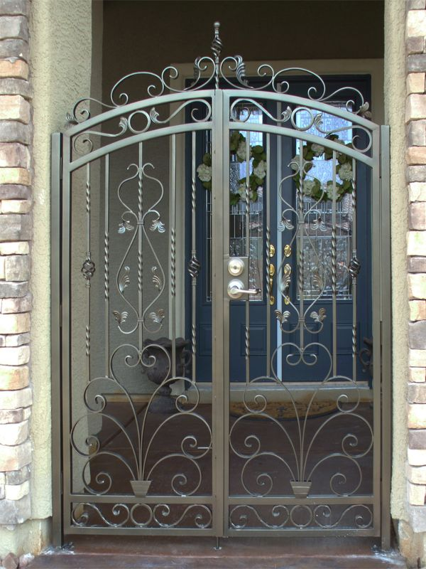 Traditional Courtyard & Entryway Gates CE0190 Wrought Iron Design In Las Vegas