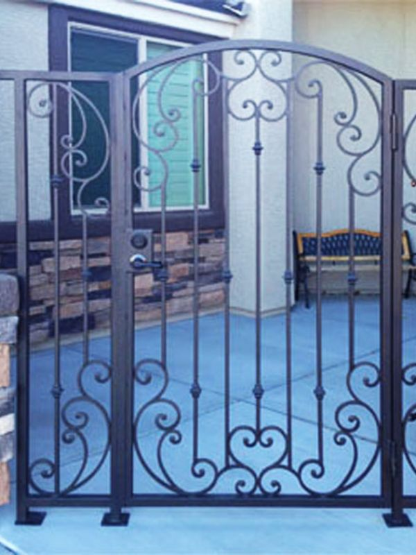 Traditional Courtyard & Entryway Gates CE0203 Wrought Iron Design In Las Vegas