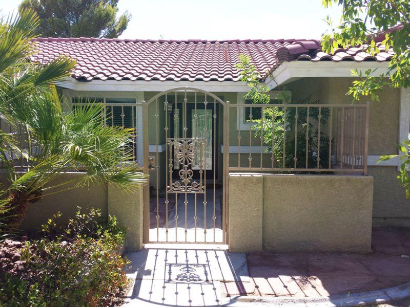 Traditional Courtyard & Entryway Gates CE0227 Wrought Iron Design In Las Vegas