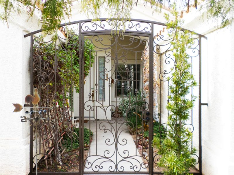 Traditional Courtyard & Entryway Gates CE0228 Wrought Iron Design In Las Vegas