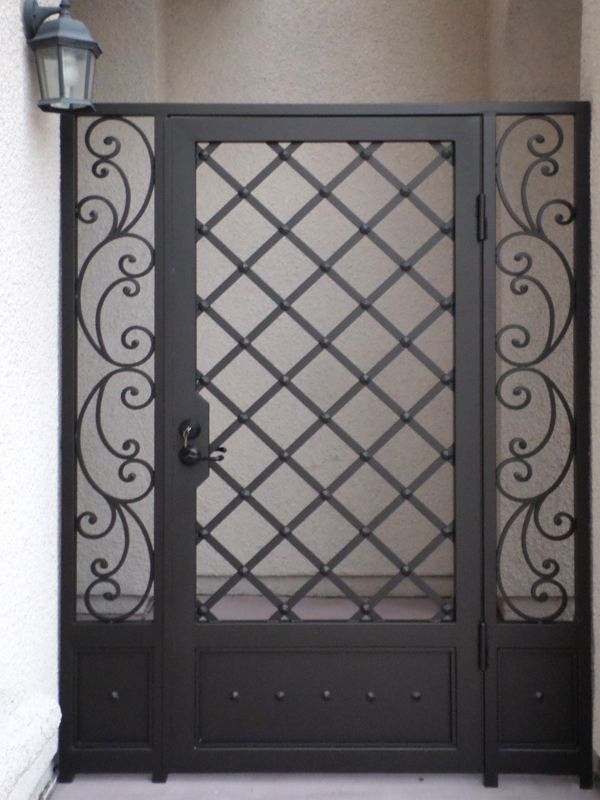 Traditional Courtyard & Entryway Gates CE0232 Wrought Iron Design In Las Vegas